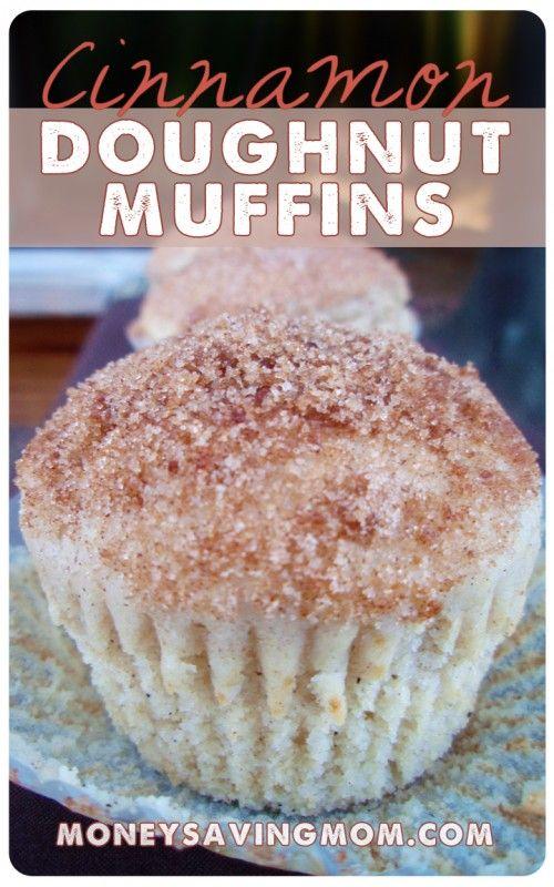 Cinnamon Doughnut Muffins-A