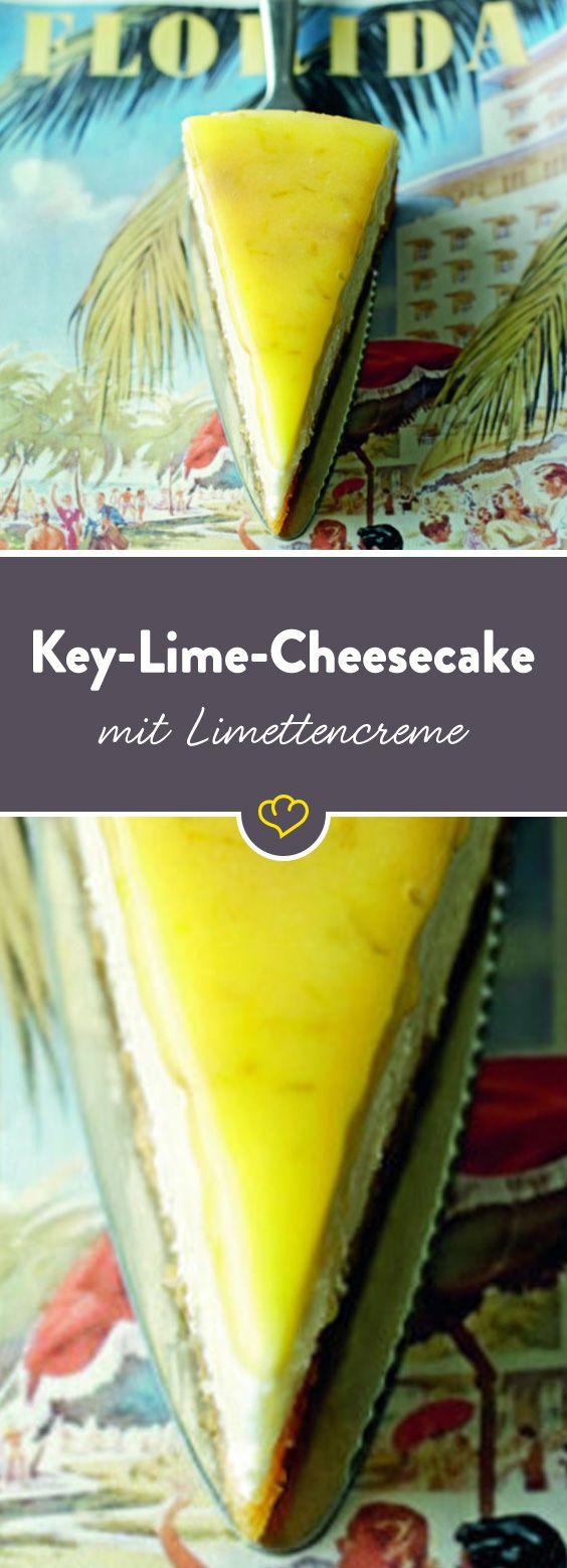 Key Lime Cheesecake von der Queen of Baking: Limetten und Zitronen sorgen für einen Frischekick, der's in sich hat. Dieser Kuchen schmeckt nach mehr.