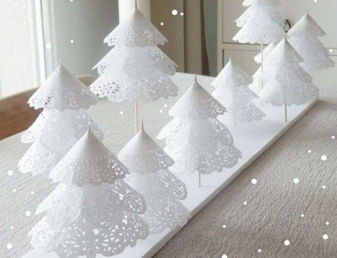 Arbolitos de Navidad de papel puntilla » http://manualidadesnavidad.org/arbolitos-de-navidad-de-papel-puntilla/