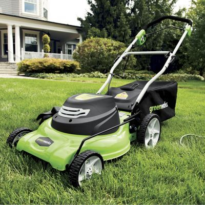 Forget about pulling a cord to start your mower. This 3-In-1 20-Inch Electric Mower features a push button start and a 12-amp motor to help you get the job done. Low monthly payments available when you use Wards Credit.