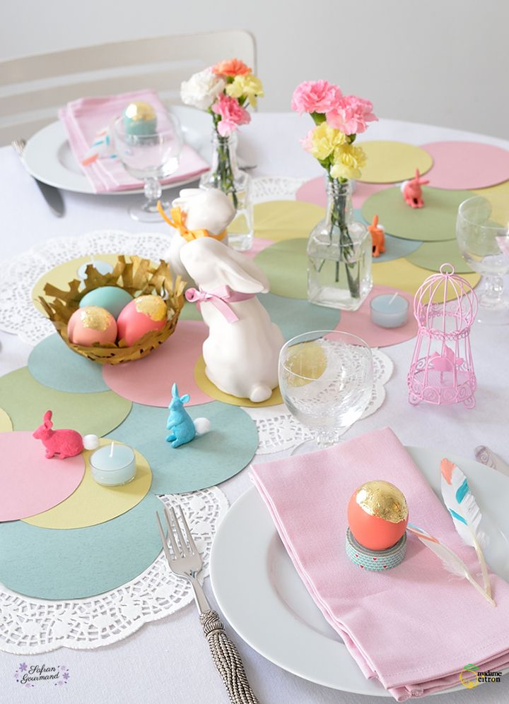 table de fête paques