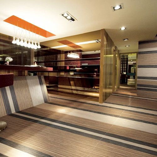 this striking hotel reception features a combination of ebony dark wood with light rice white - Dark Hardwood Hotel 2015