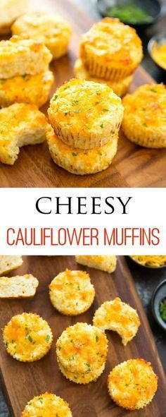 Cheesy Cauliflower Muffins. Low carb, gluten free and easy. No need to dry out the cauliflower!