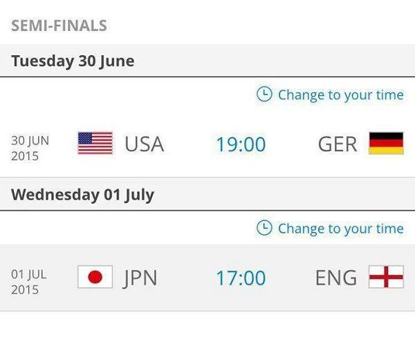 USA vs Niemcy i Japonia vs Anglia w półfinale FIFA Women's World Cup • Mistrzostwa Świata Kobiet czy II wojna światowa? • Zobacz >>