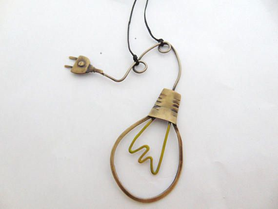 lightbulb And Plug Necklace Edison Lamp Pendant Bulb Lamp