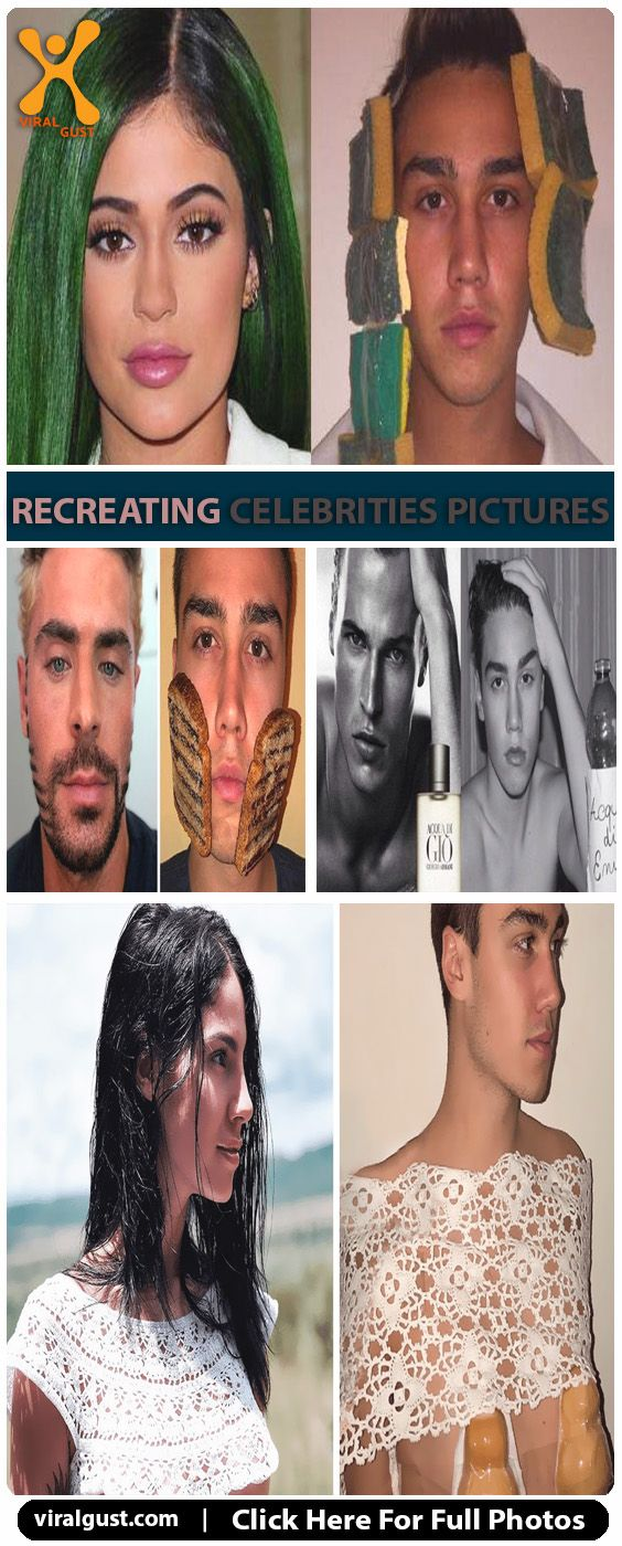 This guys recreated some hilariously funny photos of celebrities