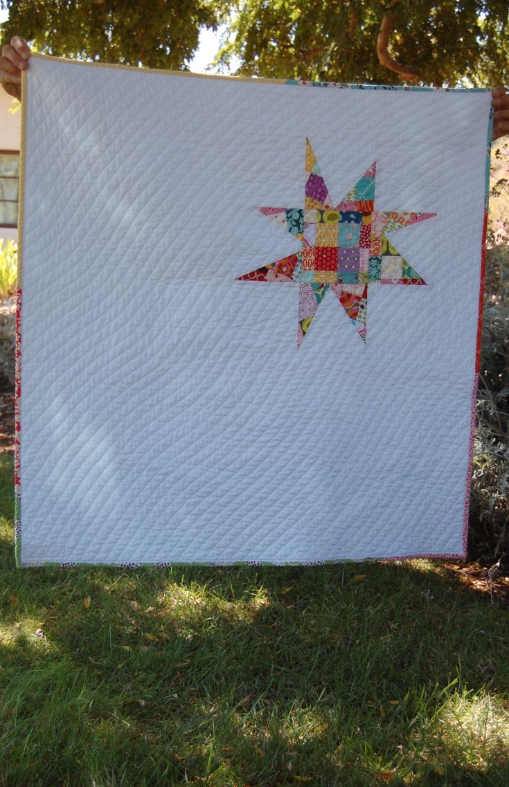 Modern Scrappy Star Baby Quilt- bloomingpoppies