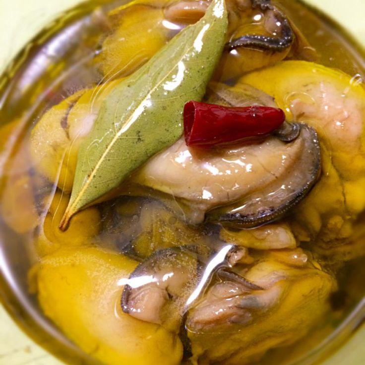 牡蠣のオイル漬一度食べたらくせになる〜 by michiyoshiWDa at 2014-04-06