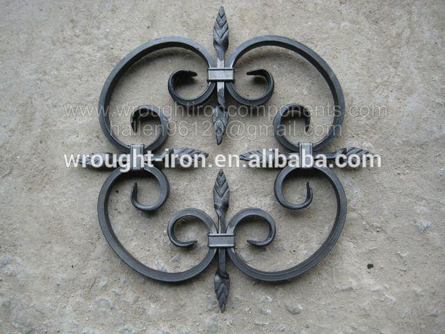 Ornamentales de hierro forjado pergaminos panel para cercas puerta escalera barandilla-en Piezas de escaleras de Escaleras y Partes en m.spanish.alibaba.com.
