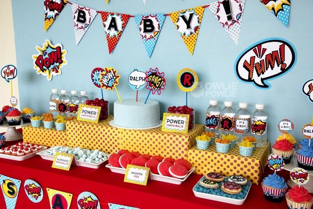 """Photo 17 of 20: Superheros / Baby Shower/Sip & See """"Super Hero Baby Shower"""" 