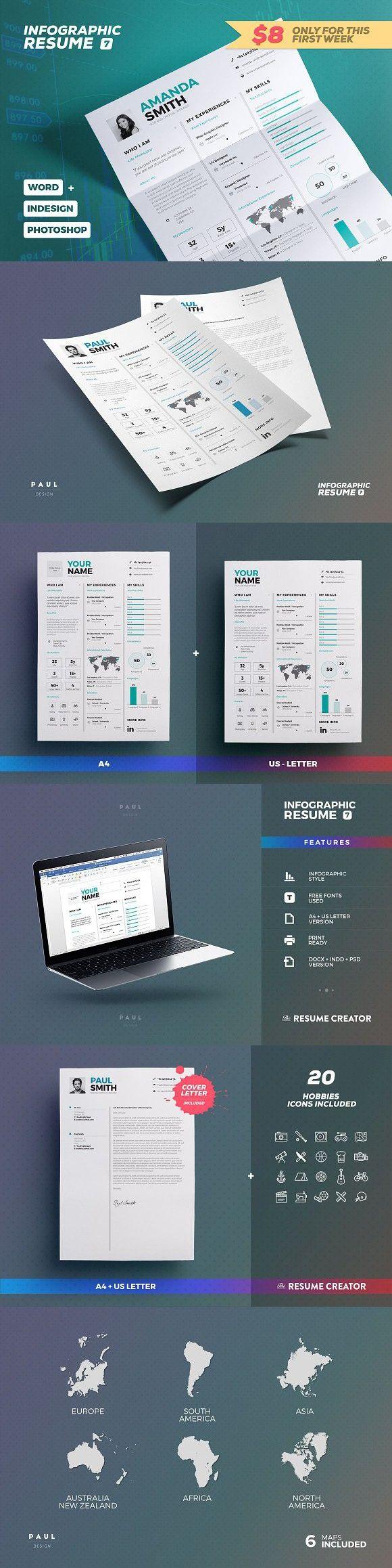 Infographic Resume/Cv Volume 7. Infographic Templates. $8.00  Infographic Resume Creator