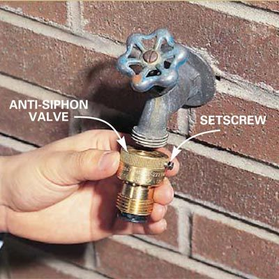 Diy Tip Of The Day Anti Siphon Valve On Existing Sill An Onto A Standard And Attach