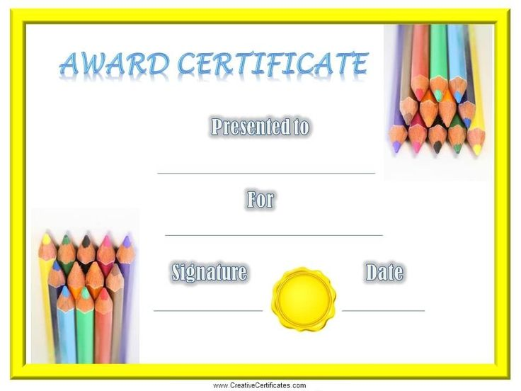Free printable children's certificates. Most of the kids certificate templates can be customized online before they are printed. Many designs available.