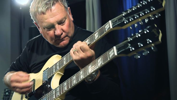 """""""Yeah - I did that myself. A soldering iron and, uh, a chainsaw."""" Rush legend Alex Lifeson talks about Gibson Custom's new Alex Lifeson Double Neck EDS-1275. The guitar is a replica of Lifeson's own '70s Gibson Double Neck...."""