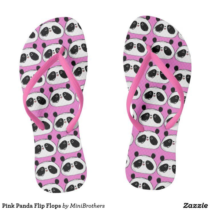 Pink Panda Flip Flops #pink #panda  Like @ashersocrates for his great picture!