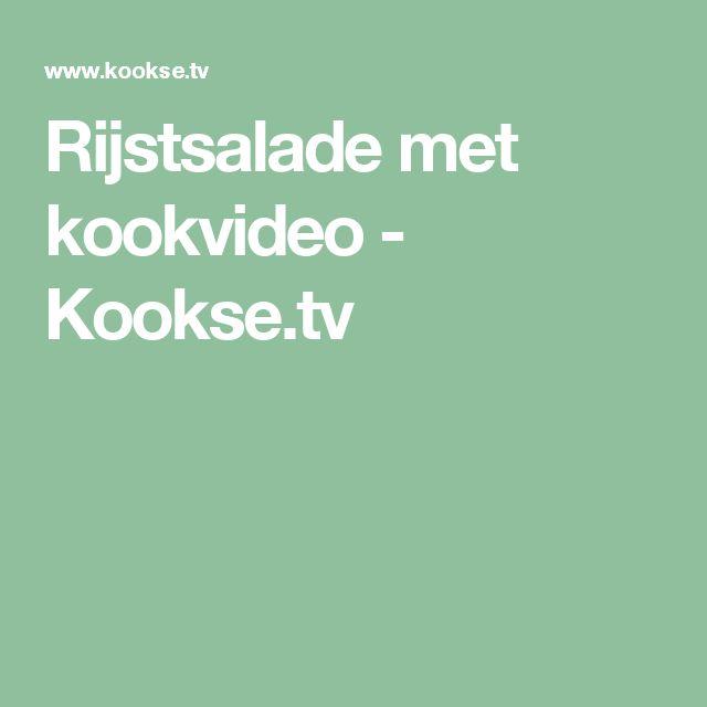 Rijstsalade met kookvideo - Kookse.tv