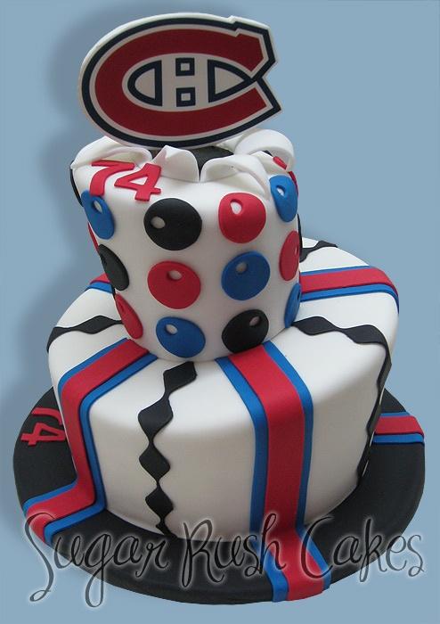 Montreal Canadiens Birthday Cake Pops