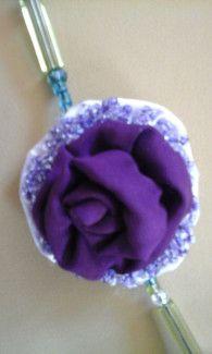 #Collar LilaVert asimetrico - [Musselina] - #handmade by Nadia - detalle_2