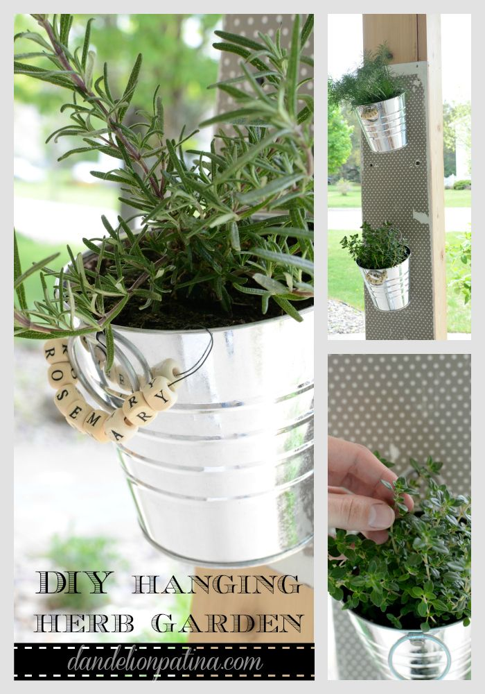 create a diy hanging herb garden inexpensively for under 10 featured on ella claire inspired - Hanging Herb Garden Ideas