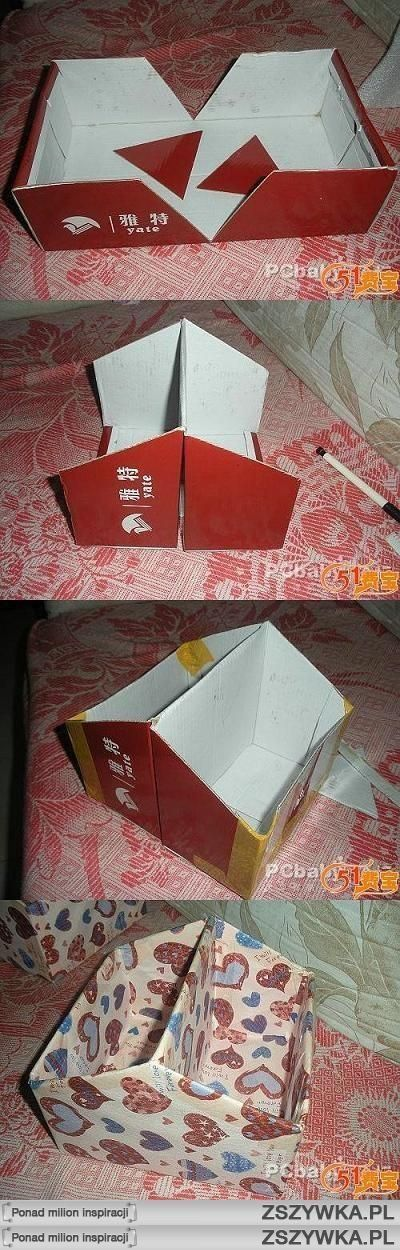 DIY shoe box or just a compartment to hold whatever. This is great to hold stuff…