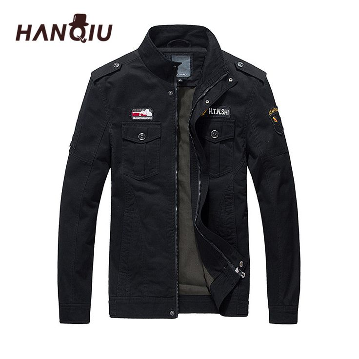 HANQIU Men Military Army Jackets Brand Hot Sale Men Bomber Jacket Outerwear Embroidery Men Militar Coat Jaqueta Masculino #Affiliate