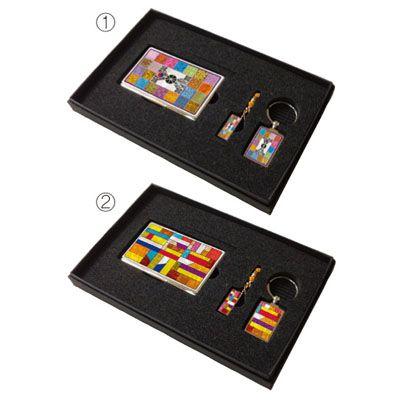 금속명함+USB+금속열쇠고리 MOTHER OF PEARL METAL CARD CASE+USB+METAL KEY CHAIN SET