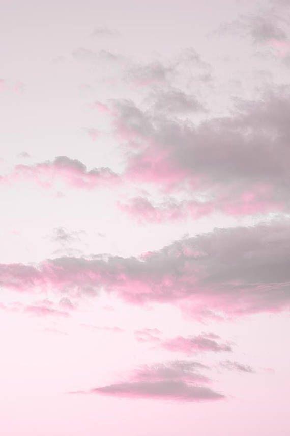 Cloud Print Cloud Photography Pink Sunset Print Printable Sky