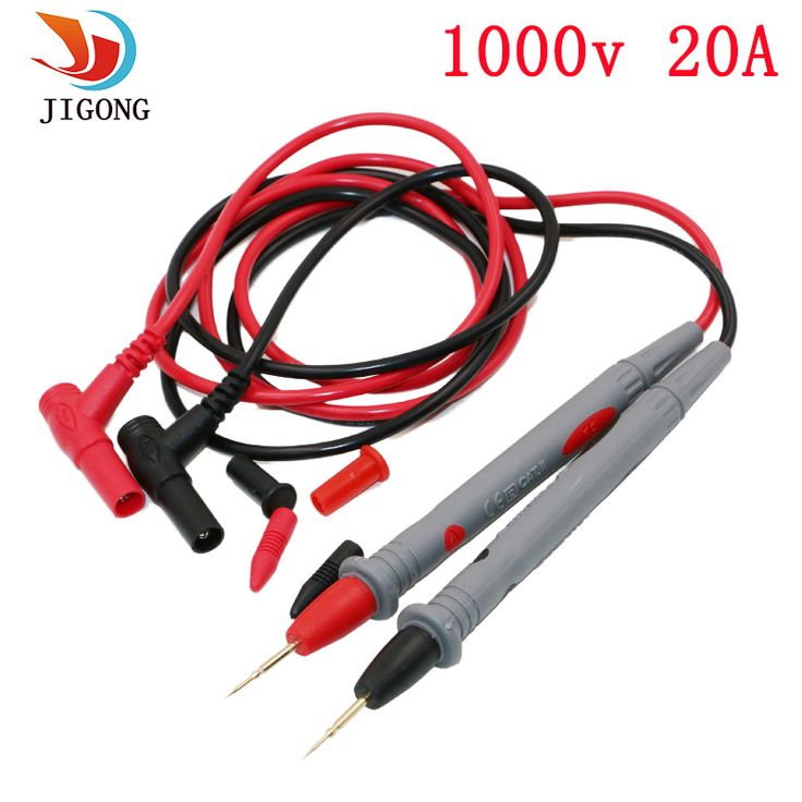 1 Pair Universal Probe Test Leads Pin for Digital Multimeter Needle Tip Meter Multi Meter Tester Lead Probe Wire Pen Cable 20A  Price: 2.20 USD