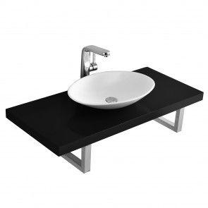 [neu.haus] Mensola lavabo console lavabo in ceramica per appoggio set 152,70 €