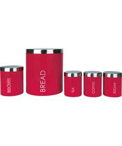 ColourMatch 5 Piece Storage Set - Poppy Red.