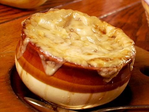 French Onion Soup Recipe : Tyler Florence : Food Network--made 3/4 of recipe. This was great Read the comments on time as the recipe itself seems off, used the leftovers for Easy Meatball Stroganoff as a substitute for the beef stock