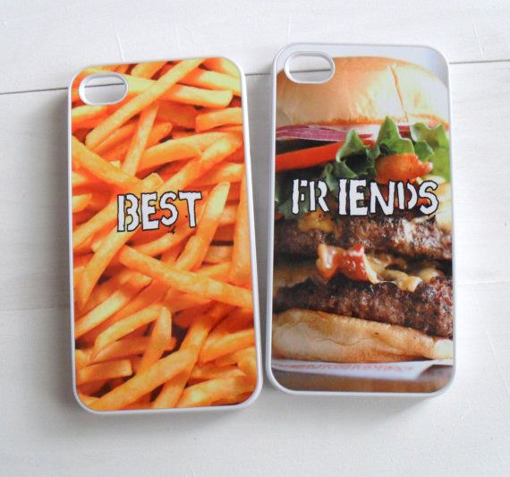Hamburger and French Fries Best Friend Cases