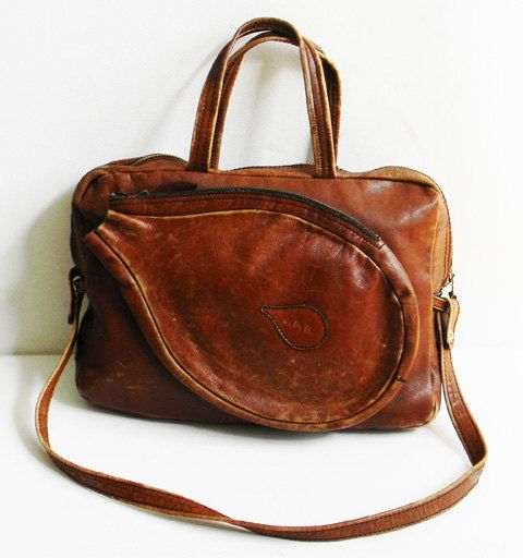 Vintage Leather Travel Bag Large Made in by alchemievintage. $110.00, via Etsy.