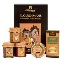 EDINBURGH PRESERVES-FOOD - DRINK AND GIFTS-Hampers-Edinburgh Preserves Ploughman's Gift Set, 885g-£18.00-A traditional collection of accompaniments to a ploughman's lunch. This tasty gift set includes rosemary biscuits handmade in the north of Scotland, along with two fruity and sweet chutneys that are perfect with cheese. Contains: Beer and Black Peppercorn 175g, Farmhouse Pate 180g, Chutney for Cheese 200g, Caramelised Onion Chutney 180g, Rosemary Biscuits 150g. Refund policy We can't ...