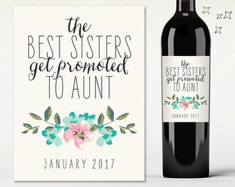 Custom Wine Label Pregnancy Announcement by TenTwelveDesigns