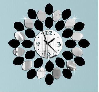 Cartoon creation of 3 d digital wall clock, novel children bedroom adornment wall clock, wall clock,Red, pink, blue