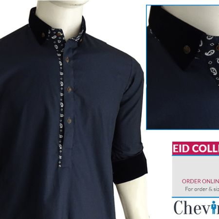 Chevin Shirley Eid Men Kurta Shalwar are trendy and stylish shalwar kameez for this festive occasion check out all the new designs launched by brand.