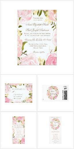 4044 best romantic wedding invitation wording images on pinterest romantic garden wedding invitation suite cashmere rose and pink mauve floral garden wedding filmwisefo Gallery