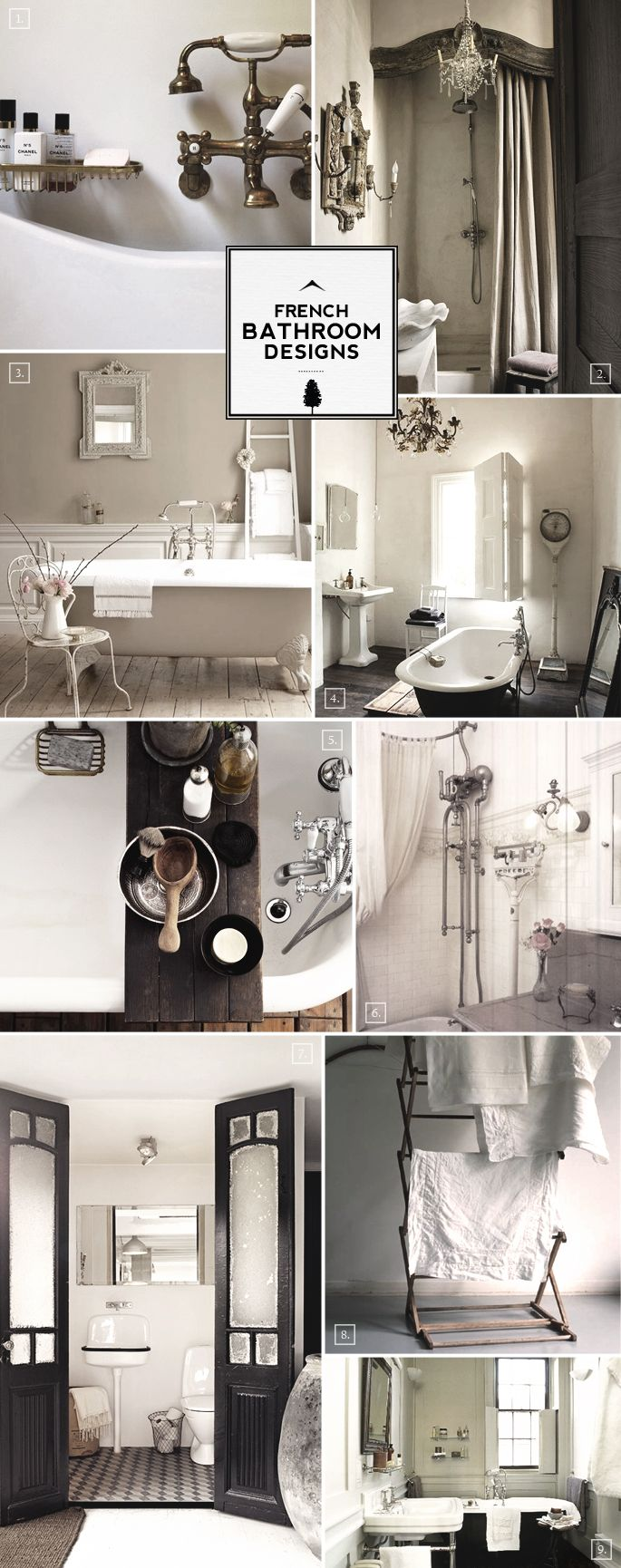 French Style Bathroom Decor and Designs