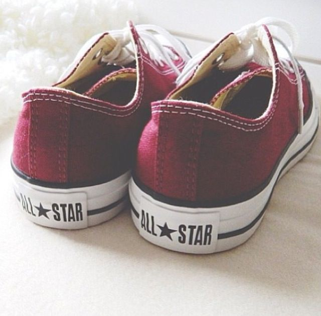 Red is related to your root chakra so it's perfect to wear red shoes - and  All Stars is a plus :)