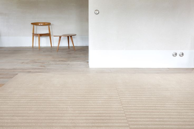 'Maestro Cascade - Desert' by Limited Edition. Maestro is made out of wool and silk. | www.le.be | Collection 2015 #bespoke #rugs #carpets #madeinbelgium #soft #stripes #tufted