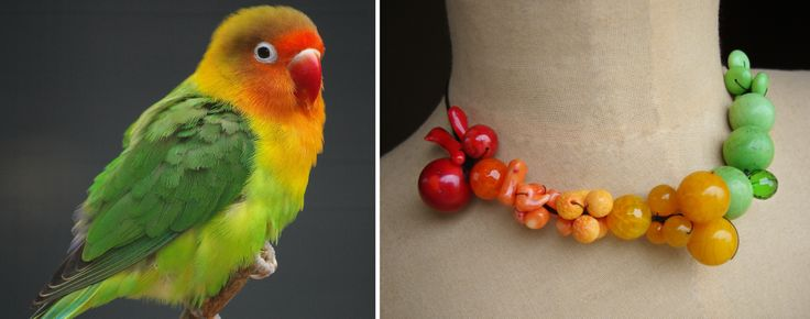 Fischer's Love Bird Necklace