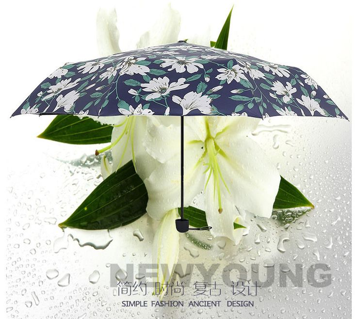Big sale Lily 3 folding 8K Sun Rain UV cheap umbrella women Simple fashion flower umbrella party wedding gifts Free shipping-in Rain Gear from Home & Garden on Aliexpress.com | Alibaba Group