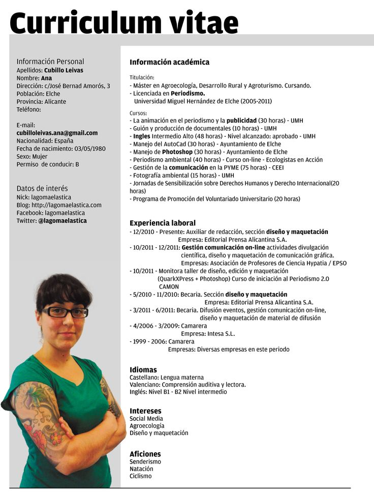 25  best ideas about plantilla curriculum vitae on