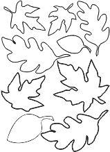 mascherine per ritagliare foglie autunnali!