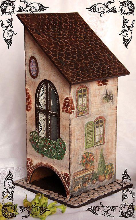 """Купить Чайный домик """"Умиротворение"""" - чайный домик, для чайных пакетиков, чайный домик декупаж, Декупаж"""