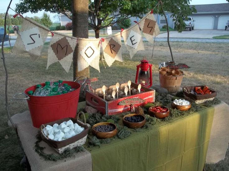 Backyard Camping Birthday Party :  Parties, Parties Ideas, Camps Parties, S More Bar, Graduation Parties