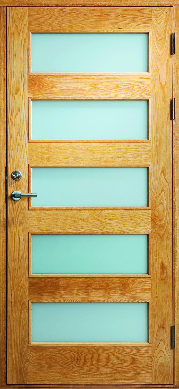 Typ denna dörr, men med en enda stor glasruta. Ytterdörrar | Bovalls dörrbyggeri