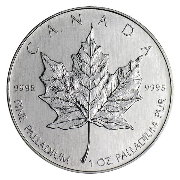 Buy 1 Oz Canadian Palladium Maple Leaf Coins Online Money Metals Canadian Maple Leaf Maple Leaf Gold Gold Bullion Bars