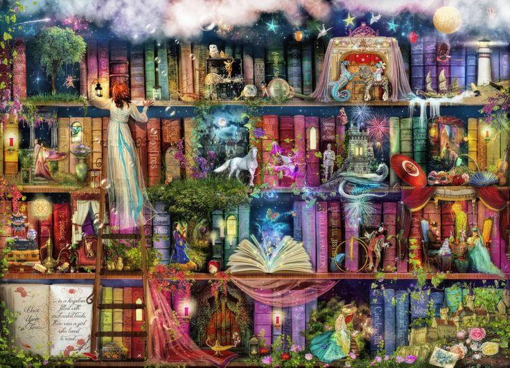 Treasure Hunt Book Shelf - Fototapeter & Tapeter - Photowall
